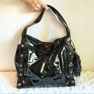 Lanvin Black Patent Leather Tote